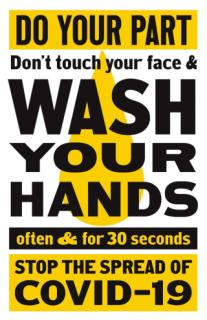 Do Pour Part - Wash Your Hands - Stop the Spread of COVID-19!