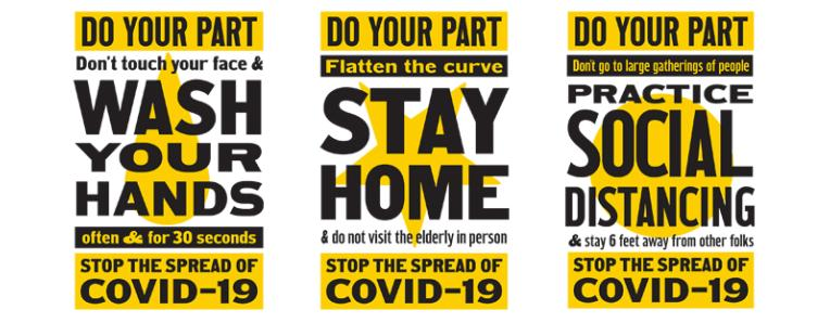 Do Your Part to Stop the Spread of COVID-19