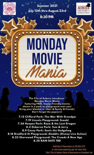 Summer 2021 Monday Movia Mania Poster
