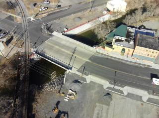 Drone Picture of State St Bridge March 2021
