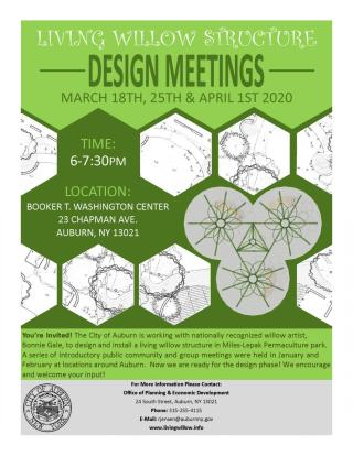 The Living Willow Design Meeting poster.
