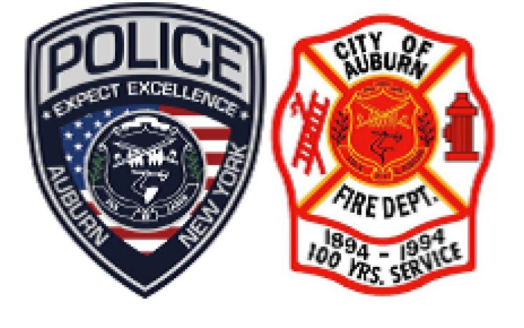 Auburn Police and Auburn Fire Department Badges