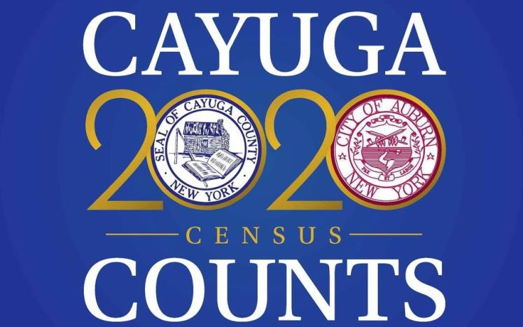 Auburn and Cayuga County 2020 U.S Census Complete Count Logo