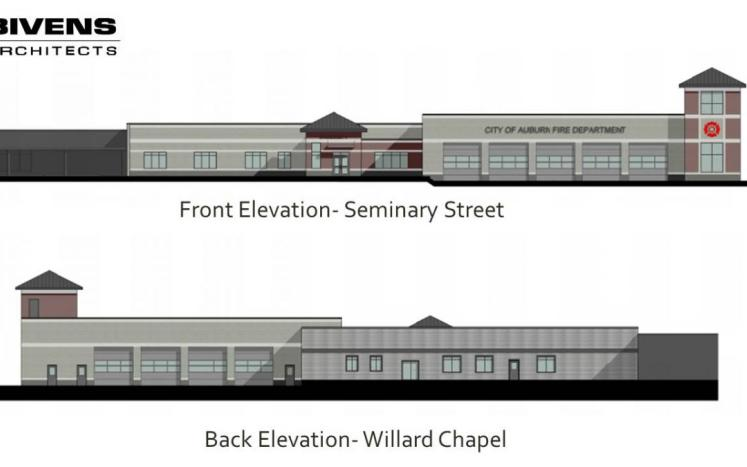 City of Auburn Architectural Drawing of the Proposed Design of the future Public Safety Building