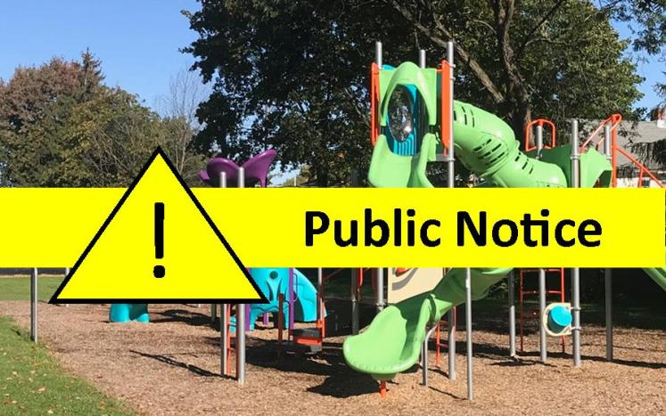Public Notice: City and School District Playgrounds Closed