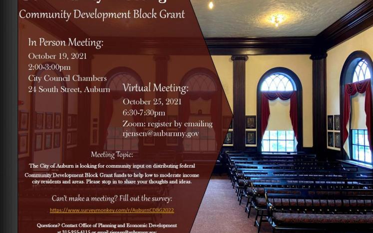 CDBG Public Meetings Fall 2021